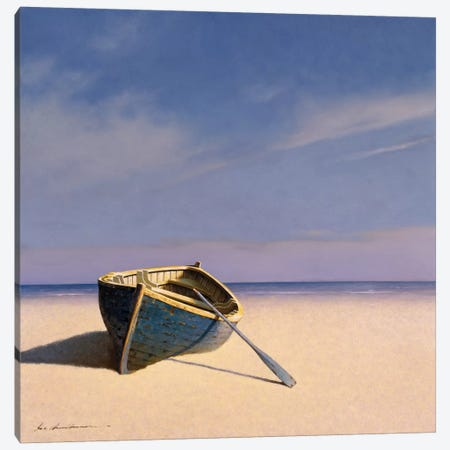 Beached Boat II Canvas Print #ZHL10} by Zhen-Huan Lu Canvas Artwork