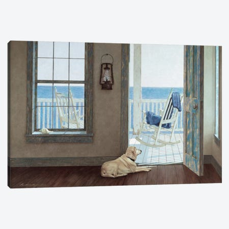The Rocking Chair Canvas Print #ZHL117} by Zhen-Huan Lu Canvas Wall Art