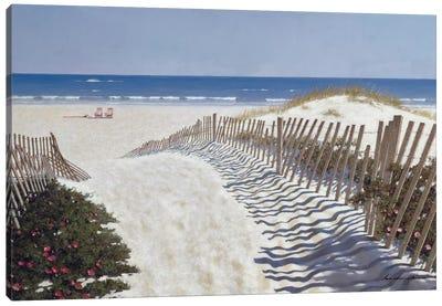 Walk To The Beach Canvas Art Print