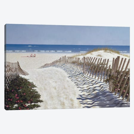 Walk To The Beach Canvas Print #ZHL122} by Zhen-Huan Lu Canvas Wall Art