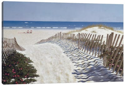 Walk To The Beach Canvas Art Print