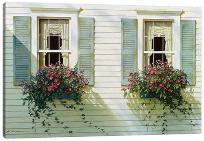 Windows With Flowerboxes Canvas Art Print