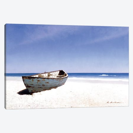 Beached Boat III Canvas Print #ZHL12} by Zhen-Huan Lu Canvas Art