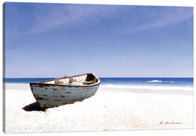 Beached Boat III Canvas Print #ZHL12