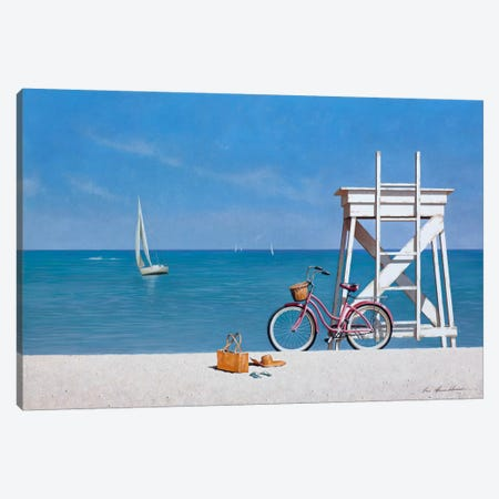 Beach Bike III Canvas Print #ZHL130} by Zhen-Huan Lu Art Print