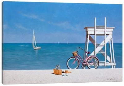 Beach Bike III Canvas Art Print