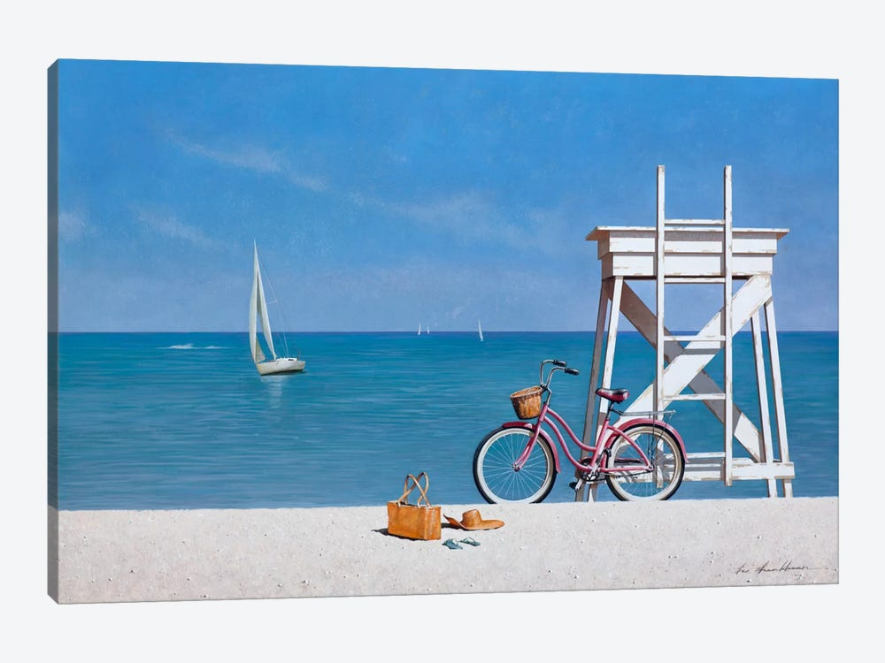 Beach Bike III by Zhen-Huan Lu 1-piece Art Print