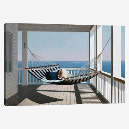 Hammock & Pillows Canvas Print #ZHL132} by Zhen-Huan Lu Art Print