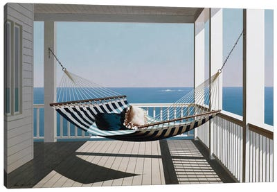 Hammock & Pillows Canvas Art Print