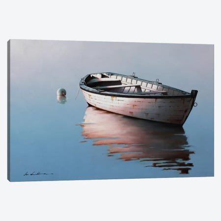 Lonely Boat I Canvas Print #ZHL133} by Zhen-Huan Lu Canvas Art Print