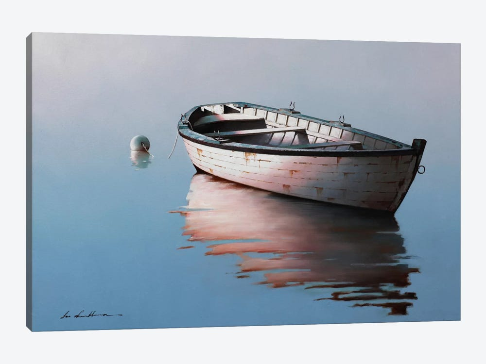 Lonely Boat I by Zhen-Huan Lu 1-piece Canvas Art