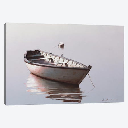 Lonely Boat II Canvas Print #ZHL134} by Zhen-Huan Lu Canvas Art