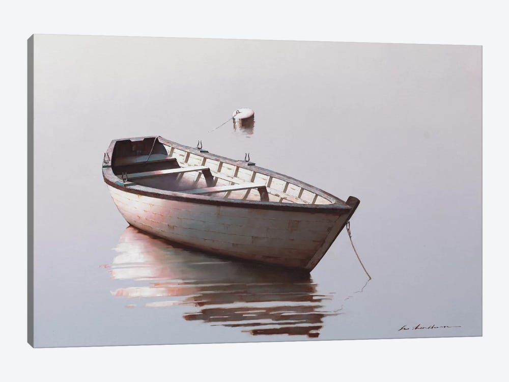 Lonely Boat II by Zhen-Huan Lu 1-piece Canvas Print