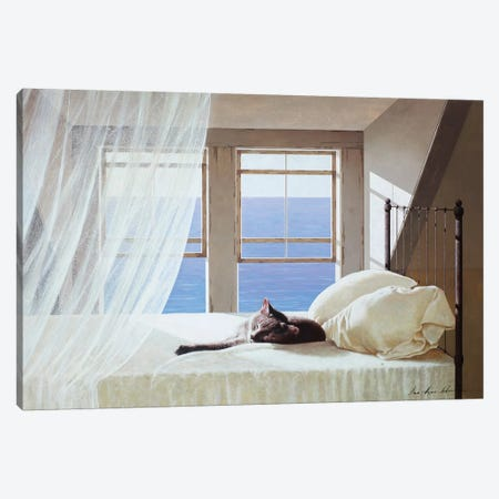 Nap Time Canvas Print #ZHL137} by Zhen-Huan Lu Canvas Art