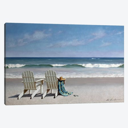 Tide Watching Canvas Print #ZHL139} by Zhen-Huan Lu Canvas Print