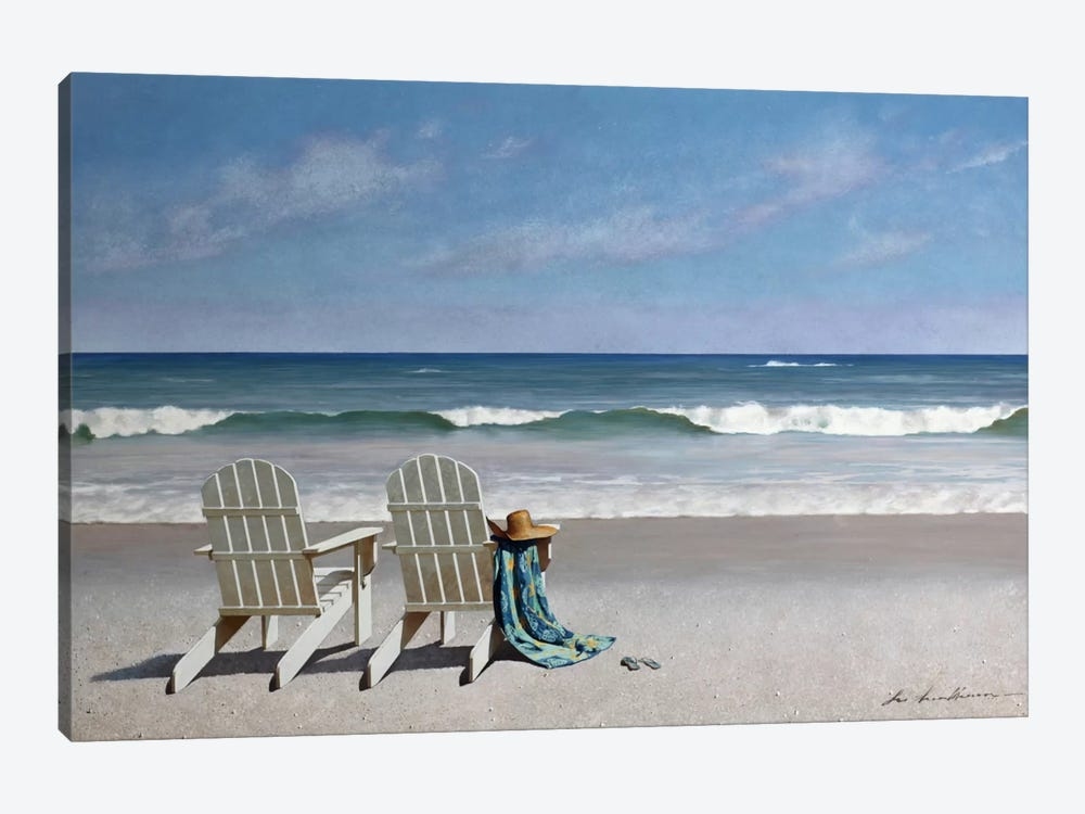 Tide Watching by Zhen-Huan Lu 1-piece Canvas Artwork