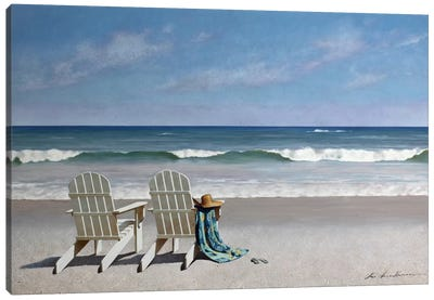 Tide Watching Canvas Art Print