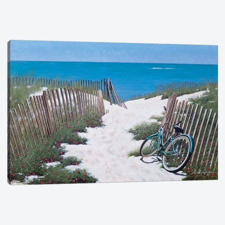 Beach Bike I Canvas Print #ZHL141} by Zhen-Huan Lu Canvas Wall Art