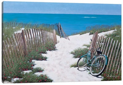 Beach Bike I Canvas Art Print