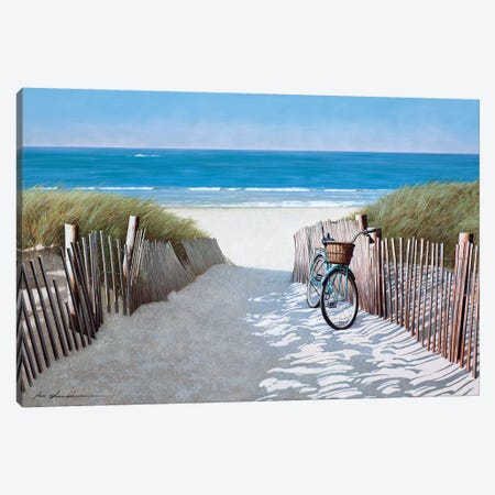 Beach Bike II Canvas Print #ZHL142} by Zhen-Huan Lu Canvas Wall Art