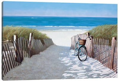 Beach Bike II Canvas Art Print