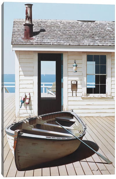 Boat on the Dock Canvas Art Print