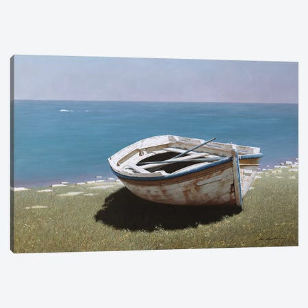 Weathered Boat Canvas Print #ZHL148} by Zhen-Huan Lu Canvas Artwork