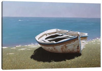 Weathered Boat Canvas Art Print