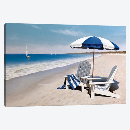 Beach Bum Canvas Print #ZHL149} by Zhen-Huan Lu Canvas Wall Art
