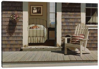 Bedroom Dog Canvas Print #ZHL14