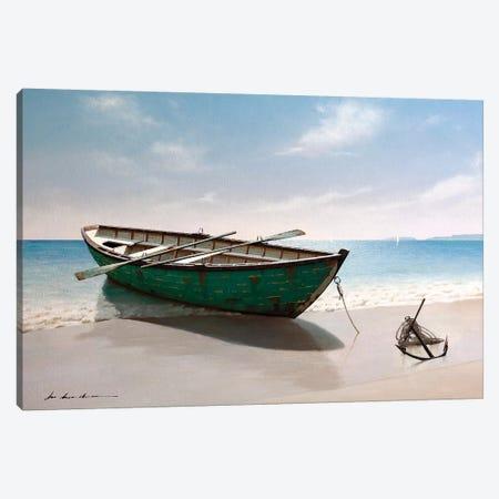 Green Boat Canvas Print #ZHL151} by Zhen-Huan Lu Art Print