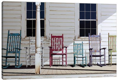 Rocking Chair Family Canvas Art Print