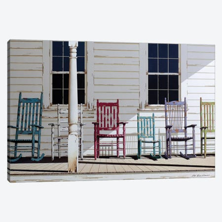 Rocking Chair Family Canvas Print #ZHL153} by Zhen-Huan Lu Art Print