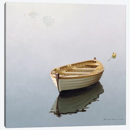Boat Shadow Canvas Print #ZHL17} by Zhen-Huan Lu Canvas Print
