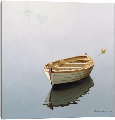 Boat Shadow Canvas Art Print