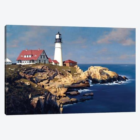 Coastal Lighthouse Canvas Print #ZHL25} by Zhen-Huan Lu Canvas Art