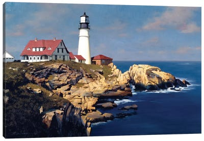 Coastal Lighthouse Canvas Print #ZHL25