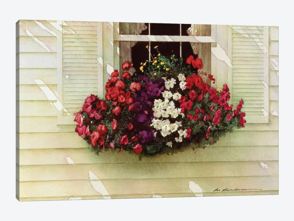 Flowerbox 1-piece Canvas Print