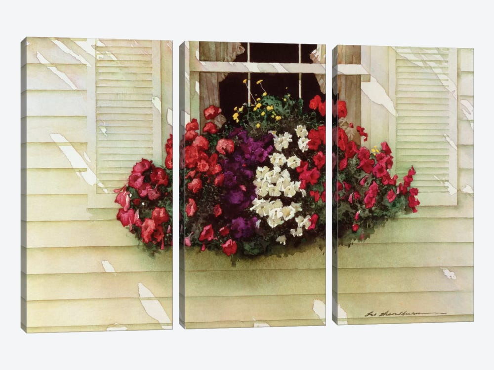 Flowerbox by Zhen-Huan Lu 3-piece Canvas Print