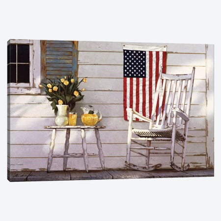 Fourth Of July Canvas Print #ZHL36} by Zhen-Huan Lu Canvas Print
