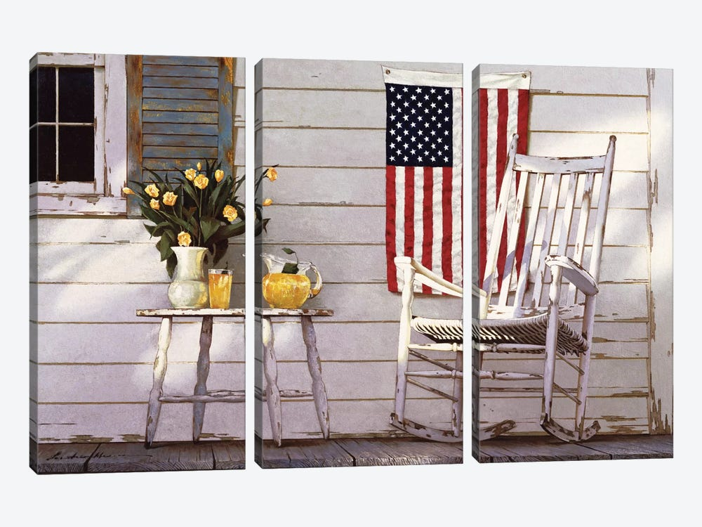Fourth Of July by Zhen-Huan Lu 3-piece Canvas Art