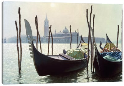 Gondolas in Venice Canvas Art Print