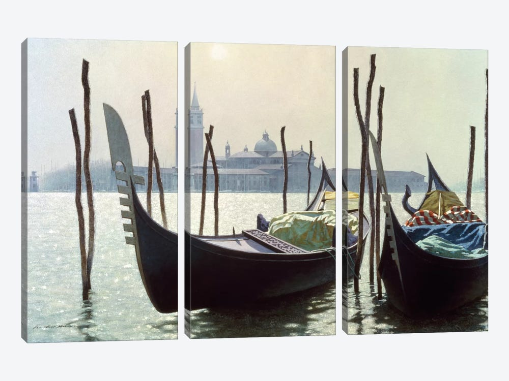 Gondolas in Venice by Zhen-Huan Lu 3-piece Art Print