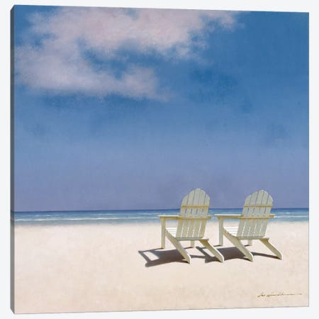 Beach Chairs Canvas Print #ZHL3} by Zhen-Huan Lu Canvas Artwork