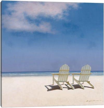 Beach Chairs Canvas Print #ZHL3