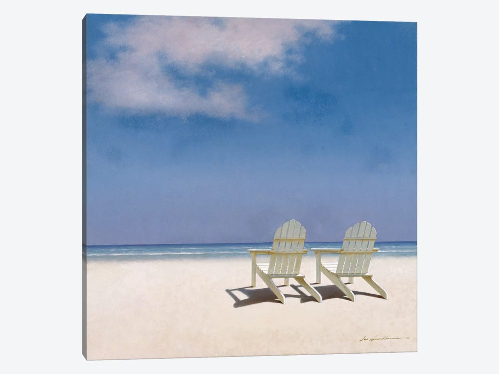 Beach Chairs by Zhen-Huan Lu 1-piece Canvas Wall Art
