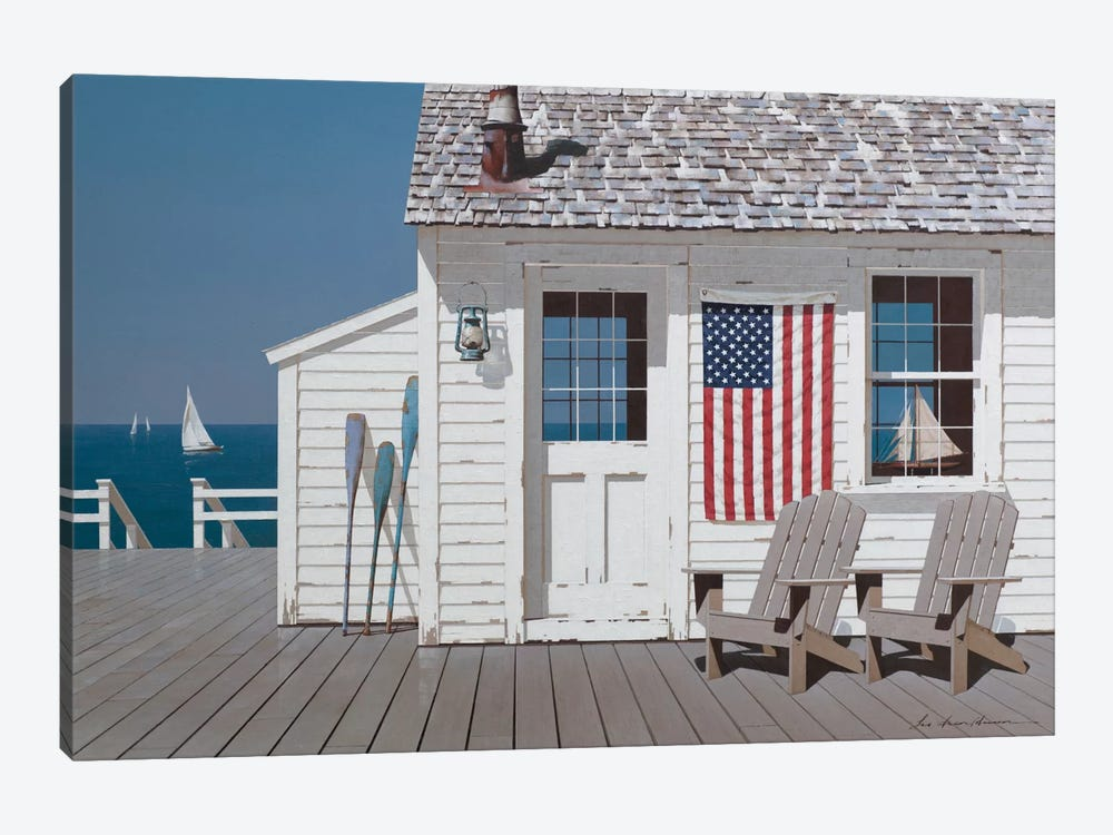Dockside Flag 1-piece Art Print