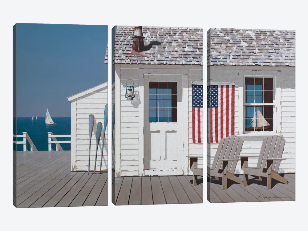 Dockside Flag 3-piece Art Print