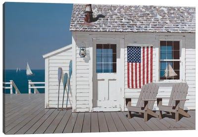Dockside Flag Canvas Art Print