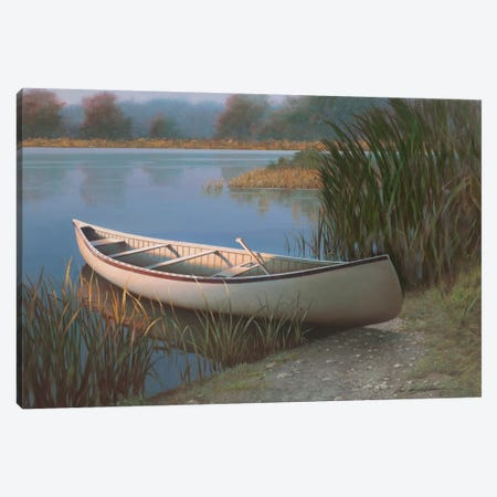 On The Lake Canvas Print #ZHL45} by Zhen-Huan Lu Canvas Wall Art